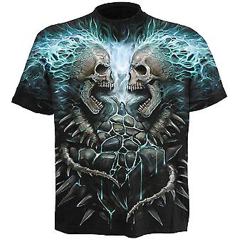 Spiral Flaming Spine All Over Print T-Shirt S