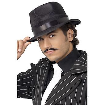 כובע שחור בלתי מנוצח עם סרט משי