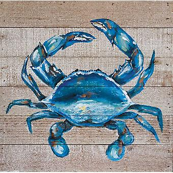 Blue Crab Poster Print by Molly Susan Strong