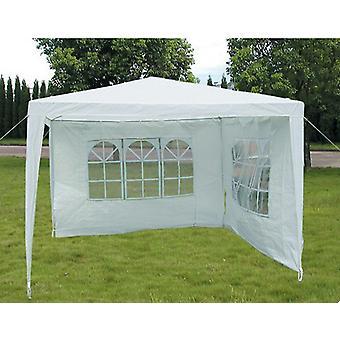 Slimbridge Hartsfield 3 x 3 meter lysthus med 2 sider, hvit