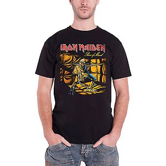 Iron Maiden T Shirt Piece of Mind Album Cover Band Logo Official Mens New Black