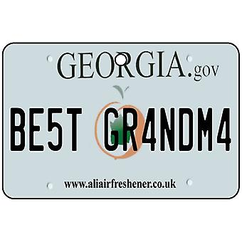 Georgia - Best Grandma License Plate Car Air Freshener