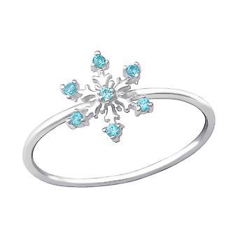 Floco de neve - 925 prata esterlina Jewelled anéis - W33903x