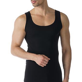 Mey 49100-123 mannen Casual katoen zwart effen kleur Tank Vest Top