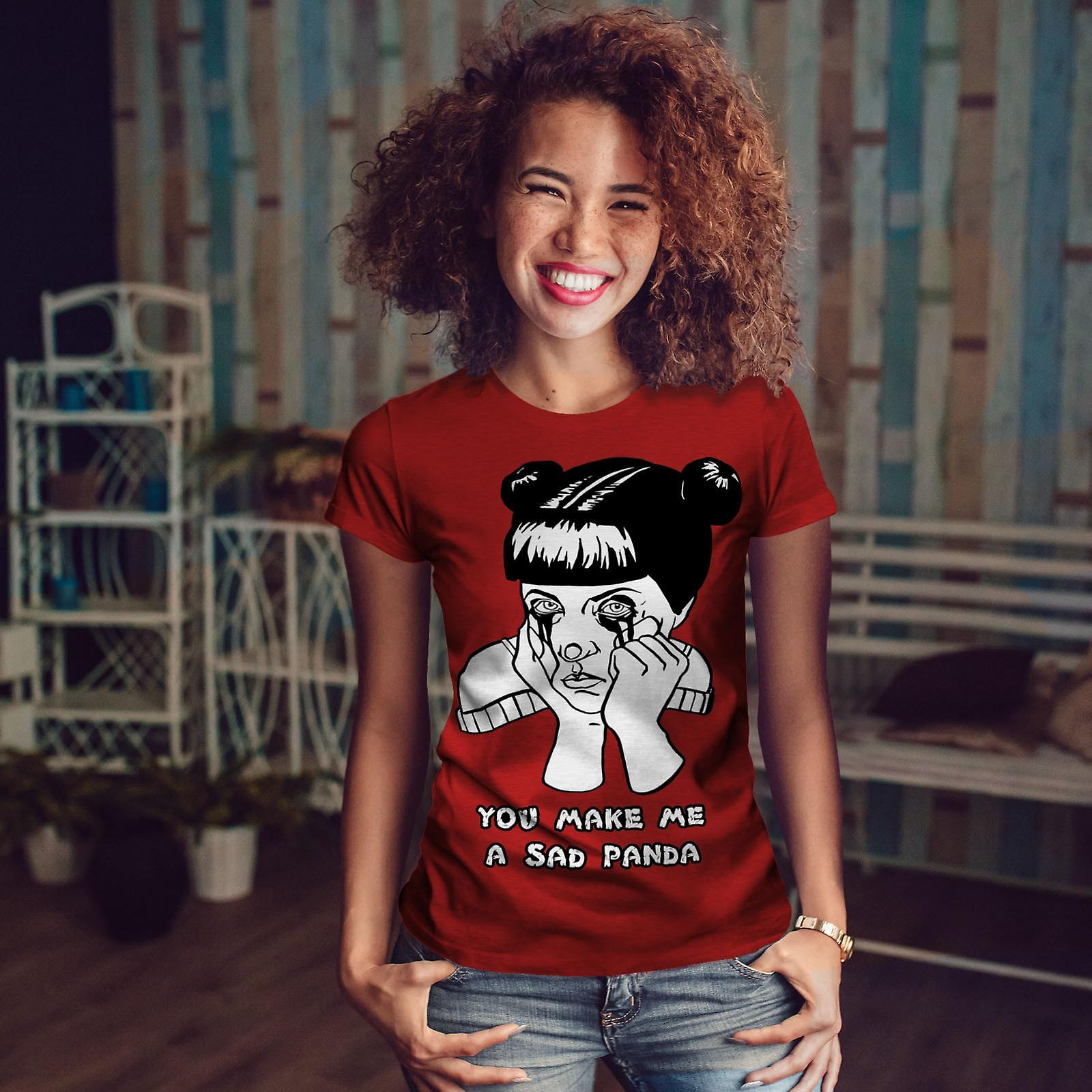 Fille triste Cool bizarre drôle femmes RedT-chemise   Wellcoda
