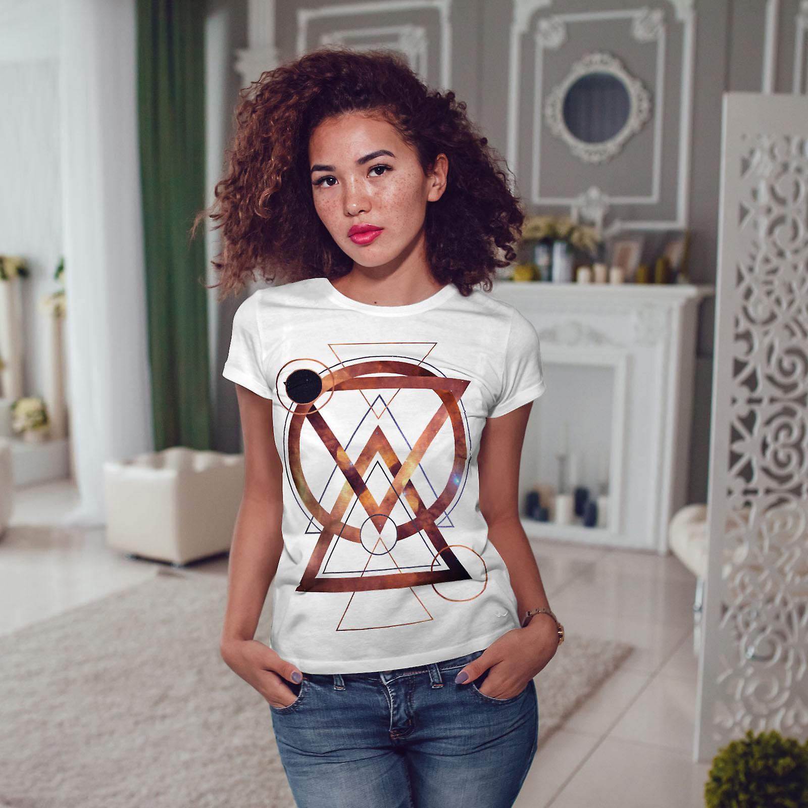 Géométrique Art Fashion WhiteT-shirt femme | Wellcoda