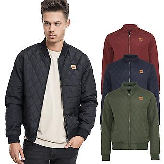 Urban classics - DIAMOND quilt nylon transition jacket