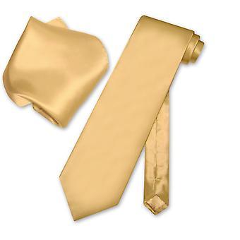 Biagio 100% SILK Solid NeckTie & Handkerchief Men's Neck Tie Set