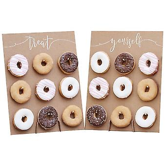 Rustic Kraft Finish Tasty Donut Wall For Guests Wedding Reception - Rustic Country
