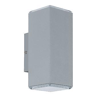 Eglo Tabo LED Exterior arriba y abajo de la luz en la plata