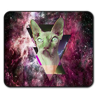 Sphynx Abstract Angry  Non-Slip Mouse Mat Pad 24cm x 20cm | Wellcoda