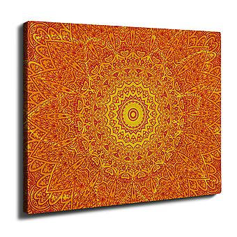 Drawing Indian Style Wall Art Canvas 40cm x 30cm | Wellcoda