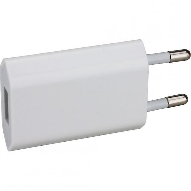 Original Apple MD813 A1400 USB power charger 5W, iPhone 4 4S bulk, 3 x screen protector