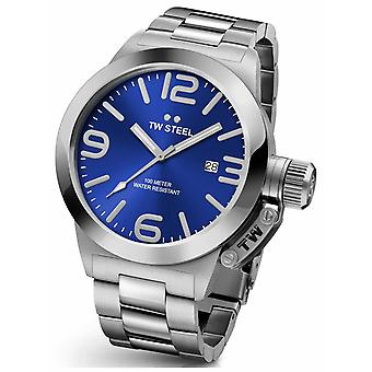 TW Steel Mens kantine 45mm Stainless Steel Blue Dial CB11 Watch