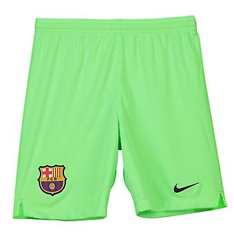 2018-2019 Barcelona Away Nike Goalkeeper Shorts (Green) - Kids