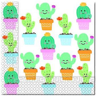 Kaktus Party Servietten 33 x 33 cm 20 Stück Kindergeburtstag Mottoparty