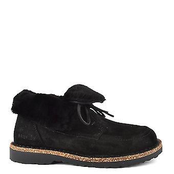 Birkenstock Bakki Black Suede Shearling Boot