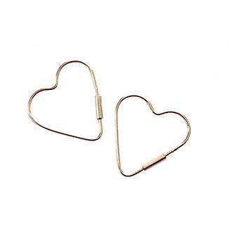 925 sølv ørepynt hjerte hjertet øredobber MILOSA sølv øredobber