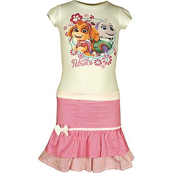 Dziewczyny ER1231 Paw Patrol Koszulka z krótkim rękawem idealna Spódniczka ustawić rozmiar 3 - 6 lat
