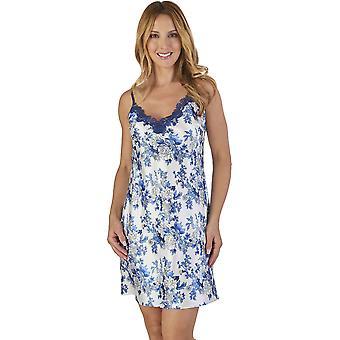 Slenderella GL2770 naisten kukka Satiini kukka yö puku oloasut yöpaita