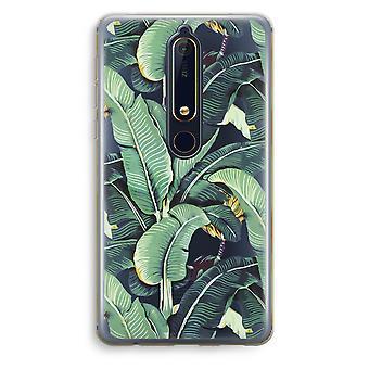 Nokia 6 (2018) boîtier Transparent (doux) - feuilles de bananier