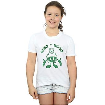 Looney Tunes Girls Marvin The Martian Large Head T-Shirt
