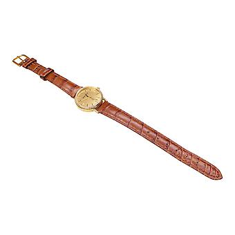 Golden Memento watch with leather strap