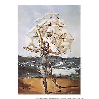 Le navire c1943 Poster Print par Salvador Dali (8 x 11)