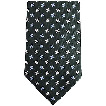 Gravata de seda gravatas Knightsbridge Kensington cruz - verde escuro