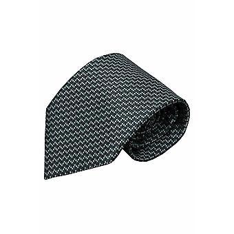Grijze zijden stropdas Uatzuo 01