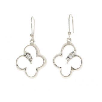 Cavendish francese aperto farfalla goccia orecchini in argento Sterling con singolo Cz