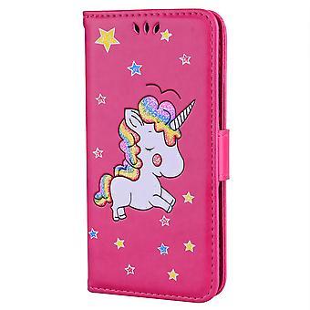 Samsung Galaxy S9 portafoglio caso-unicorno unicorno-Rose