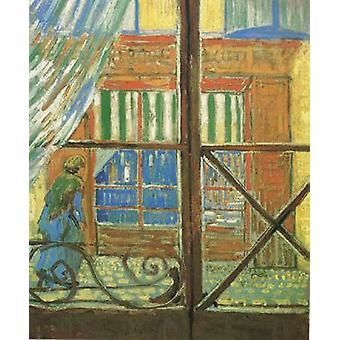 A Pork-Butcher ' s Shop Seen from a Window, Vincent Van Gogh