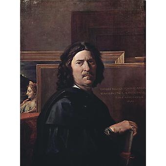 Selbstporträt, Nicolas Poussin, 50x40cm