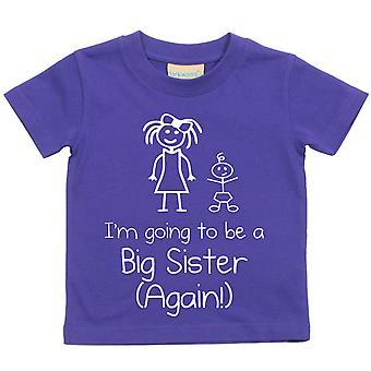 I'm Going To Be A Big Sister Again Purple Tshirt