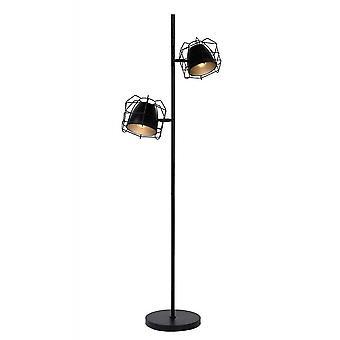 Lucide Raster moderne Ecke-förmigen Metall schwarz und Silber Stehlampe