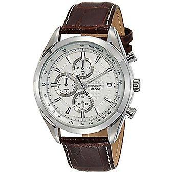 Seiko Dress Quartz Chronograph White Dial Men's Watch SSB181P1