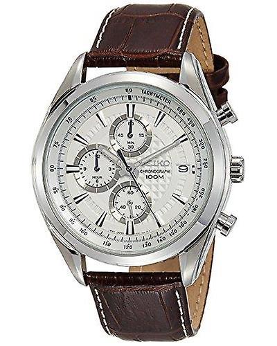 Seiko Dress Quartz Chronograph White Dial Mens Watch SSB181P1 RRP £225