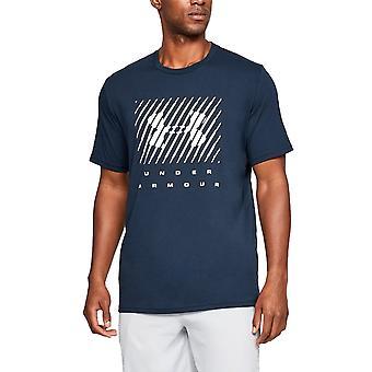 Onder pantser Mens gemerkte groot Logo korte mouw T Shirt