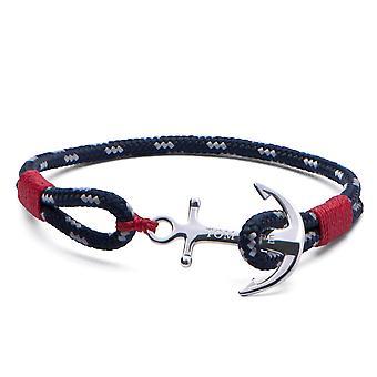 Tom Hope Sterling Silver Atlantic Red Bracelet Medium TM0042