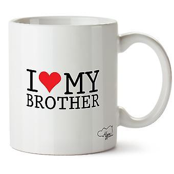Hippowarehouse amo mio fratello stampato Mug tazza ceramica 10oz