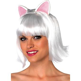 Kitty Bob White Wig For Adults