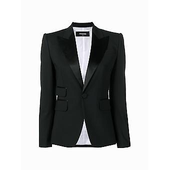Dsquared2 S75bn0635s40320900 Women's Black Cotton Blazer