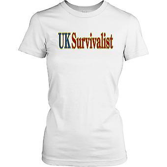 UK Survivalist feminina T-Shirt