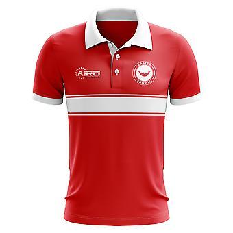 Osterinseln-Konzept-Streifen-Polo-Shirt (rot)