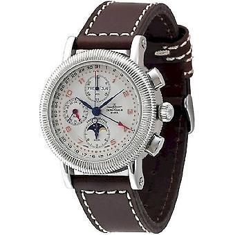 Zeno-watch mens watch nostalgia chronograph 98081-f2