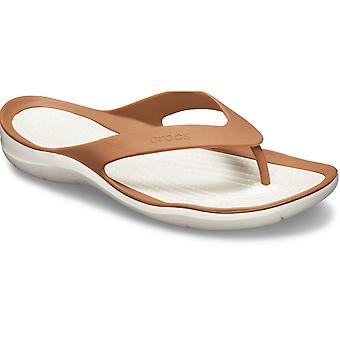 Crocs Womens Swiftwater Slip On Lightweight Flipflop Sandals