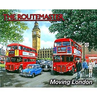 Routemaster przeniesienie London Metal Zarejestruj 200 X 150 Mm