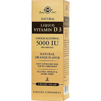 Solgar Liquid Vitamin D3 (Cholecalciferol) 5000 IU Natural Orange Flavor 2 oz