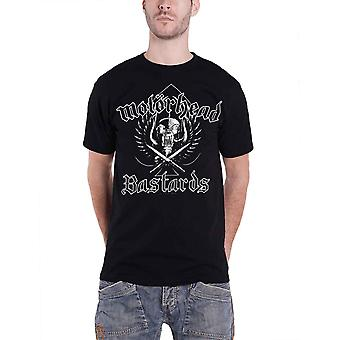 Motorhead T Shirt Bastards Distressed Crest band Logo Official Mens Black